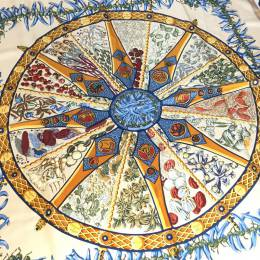 Hermes Aux Pays Des Epices Printed Silk Square Scarf 198189