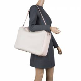 Dior Beige/Pink Canvas and Leather Nappy Suitcase 121407
