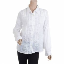 Marc by Marc Jacobs White Button Up Blouse M 31138