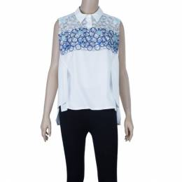 Peter Pilotto White Sleeveless Blouse S 3235