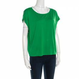 Marc by Marc Jacobs Parrot Green Jersey Bow Back Detail Short T-Shirt M 184275