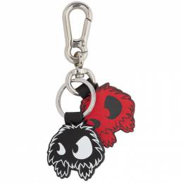 McQ Alexander McQueen Red and Black Monster Keychain 192114M14800201GB