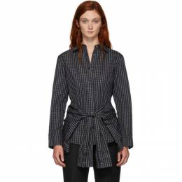Alexander Wang Black and White Tie Waist Shirt 1WC2191225