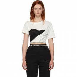 Alexander Wang White Draped Bustier T-Shirt 1WC2191216