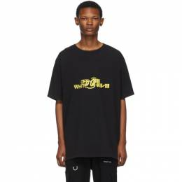 Off-White Black and Yellow Halftone T-Shirt 192607M21301304GB