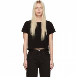 Re/Done Black 1950s Boxy T-Shirt