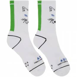 Maison Kitsune White ADER error Edition Fox Socks 192389M22000101GB