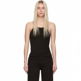 Re/done Black Ribbed Tank Top 192800F11100503GB