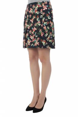 Erdem Multicolor Flower Garden Print Pleat Detail Calista Skirt S 201645