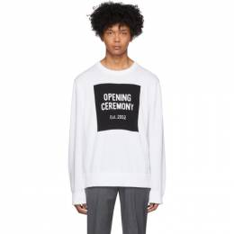 Opening Ceremony White Box Logo Sweater SS19KDN12470