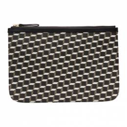 Pierre Hardy Black Large Cube Pouch 192377F04500401GB