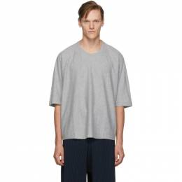 Homme Plisse Issey Miyake Grey Basics Release-T T-Shirt 192729M21301901GB