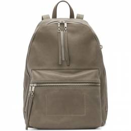 Rick Owens Grey Leather Classic Backpack 192232M16600201GB
