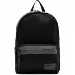Diesel Black and Grey Discover Mirano Backpack X06264 PR230