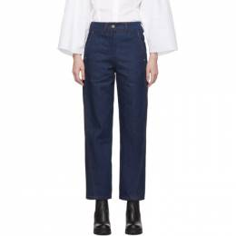 Lemaire Indigo Twisted Jeans 192646F06900503GB