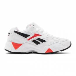 Reebok Classics White and Red Aztrek 96 Sneakers 192749F12801206GB