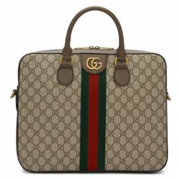 Gucci Brown Ophidia GG Briefcase 192451M16700101GB