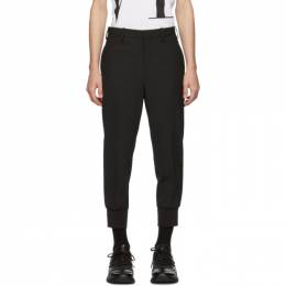 Neil Barrett Black Rib Cuff Tailored Trousers PBPA 78SH M001