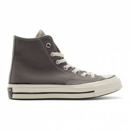 Converse Grey Chuck 70 High Sneakers 201799M23602201GB