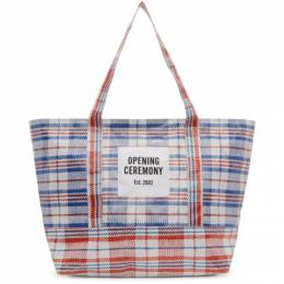 Opening Ceremony Blue Medium Chinatown Tote 192261F04900101GB