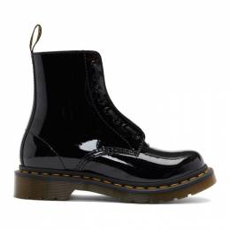 Dr. Martens Black Patent 1460 Pascal Front Zip Boots 192399F11304001GB