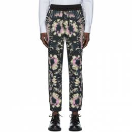 Dries Van Noten Black Tie-Dye Lounge Pants 21184-8609-900