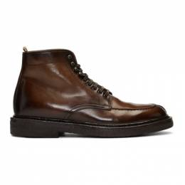 Officine Creative	 Brown Stanford 207 Boots 192346M25500906GB