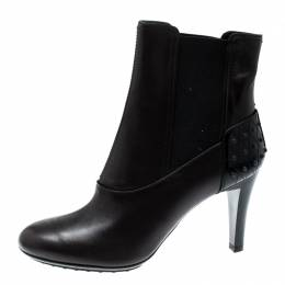 Tod's Dark Brown Leather Ankle Boots Size 37.5 207836
