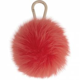 Yves Salomon Red Fox Fur Keychain 192594F02500301GB