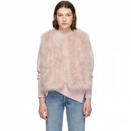 Yves Salomon Pink Feather Vest 192594F06202401GB