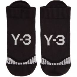Y-3 Black Invi Socks 192138F07600204GB