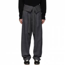 Loewe Grey Belted Overall Trousers H2292010FH