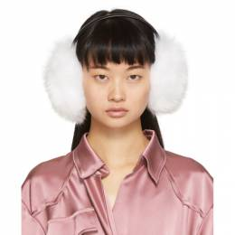 Yves Salomon White Fur Earwarmers 192594F01800601GB
