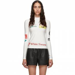 Off-White SSENSE Exclusive White Multilogo Sporty Top OWAB016E19E020820188