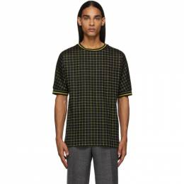 Paul Smith Black and Yellow Tattersal Check T-Shirt M1R-687T-A00880