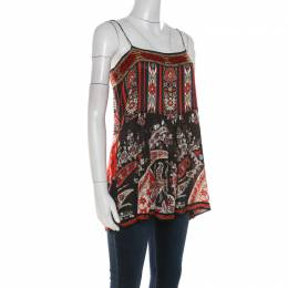 Isabel Marant Etoile Multicolor Paisley Print Crepe Tybalt Camisole Top M 210478