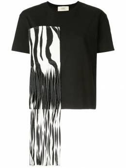 Ports 1961 - zebra fringed patch T-shirt 98KKX59JCOU650930065