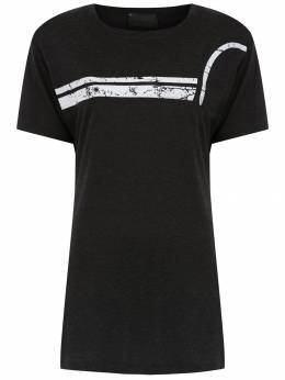 Andrea Bogosian - t-shirt with front stripe detail 66993695036000000000