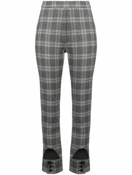 Ellery checked high waist trousers 8FP785BOBLK