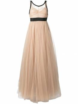 No. 21 sheer tulle evening dress N2MH2415043