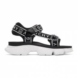 Givenchy Black and White 4G Jaw Sandals 192278M23400303GB