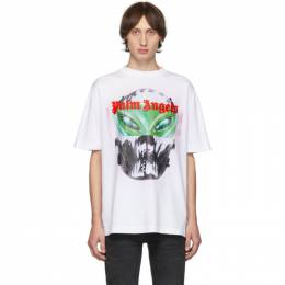 Palm Angels White Alien T-Shirt PMAA001E194130100188