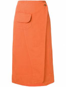 Henrik Vibskov - Coco wrap denim skirt 9F569935055300000000