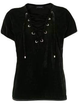 Olympiah - lace-up velvet blouse 05690909003000000000
