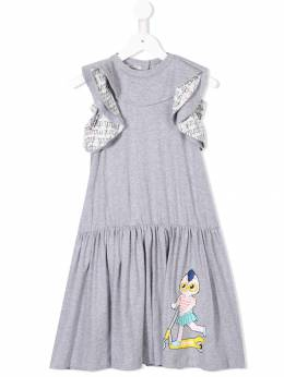 Fendi Kids logo printed jersey dress JFB1867AJ