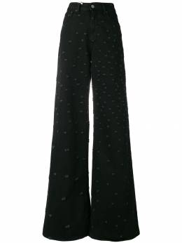 MM6 Maison Margiela ripped flared trousers S62LB0004S30531
