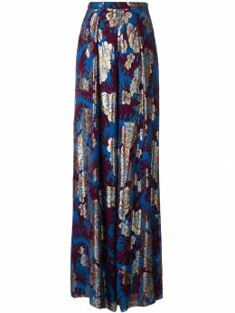 Talbot Runhof - metallic floral wide-leg trousers 9CS56939530630000000