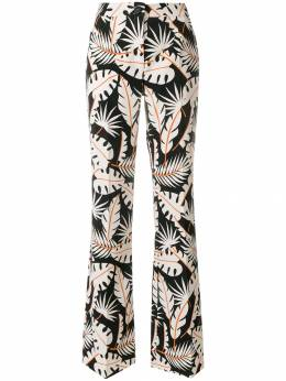 Talbot Runhof - jungle print flared trousers TON8CS55909393380000