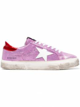 Golden Goose Deluxe Brand pink May glitter leather sneakers G32WS127I7