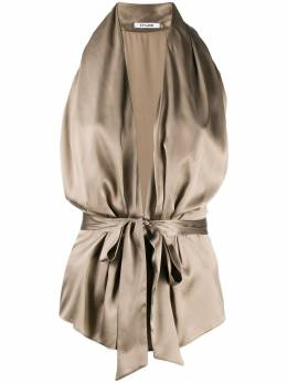 Styland bow tied plunge halterneck top 3304600